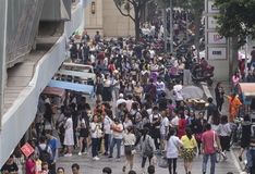 Crowd people in Shopping street .chengdu Stock Images