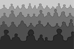Crowd people silhouettes Stock Photo