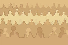 Crowd people silhouettes vector illustration