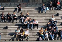 Crowd, People, Social Group, Infrastructure royalty free stock photography