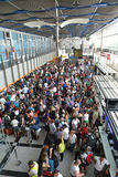 Crowd of people in the Split airport queue Royalty Free Stock Images