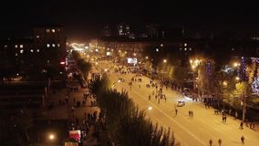 Crowd of people on the street city at night. Many People On The Street. Full HD Resolution 1920 - 1080 Video Frame Rate 29.97 Length 0:16 stock video footage