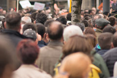 Crowd of people. At street protest Royalty Free Stock Photography