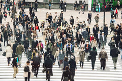 Crowd of people on the street in Tokyo Stock Images