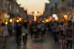 Crowd of people in Talang Road, Phuket Royalty Free Stock Photography