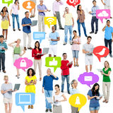 Crowd of people on technology Stock Images