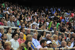 Crowd of people at a tennis match Royalty Free Stock Photos