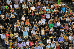 Crowd of people at a tennis match Stock Photo