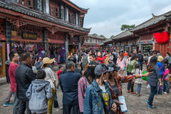 Crowd people travel in Lijiang, China Royalty Free Stock Photography