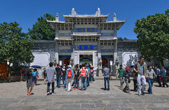 Crowd of people travel during national holiday in Lijiang Royalty Free Stock Photography