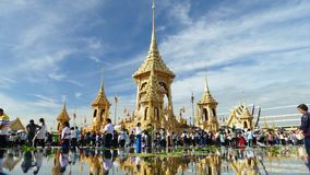 Crowd of people visit  The Royal Crematorium of His Majesty King Royalty Free Stock Photography