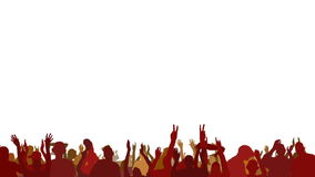 Crowd of people waving hands Royalty Free Stock Images