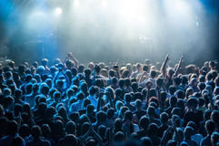 The crowd during a performance Royalty Free Stock Photography
