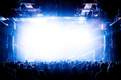 The crowd during a performance dj Stock Images
