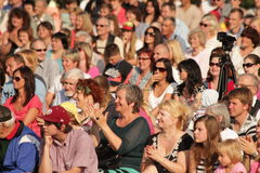 Crowd. Photo taken on: July 12th, 2014 Royalty Free Stock Images
