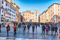 Crowd in Piazza della Rotonda, Rome, Italy Stock Photo