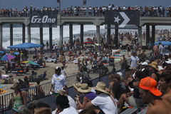 Crowd and pier Stock Photography