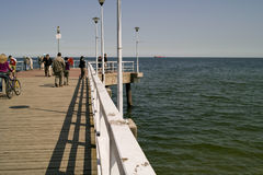Crowd on the pier. Royalty Free Stock Photography