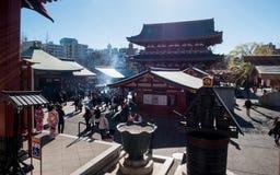 Crowd of Pilgrims at Tokyo stock image