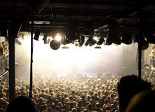 Crowd at a pop concert Royalty Free Stock Photography