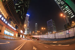 Crowd of protesters occupy the road in Admiralty Stock Photo