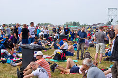 Crowd on Radom Airshow, Poland Royalty Free Stock Images