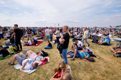 Crowd on Radom Airshow, Poland Stock Images