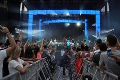 Crowd at a rap concert Royalty Free Stock Photos