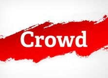 Crowd Red Brush Abstract Background Illustration royalty free illustration