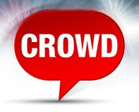 Crowd Red Bubble Background royalty free illustration