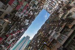 Crowd residence area in Hong Kong city Stock Image