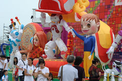 Crowd at River Hong Bao 2017 Singapore stock photo