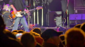 Crowd on Rock Concert stock video footage