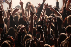 Crowd rocking on the concert Royalty Free Stock Photography