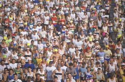 Crowd of runners Royalty Free Stock Photography
