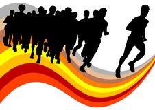 Crowd running Royalty Free Stock Photography