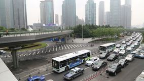 Crowd Shanghai traffic video stock video footage