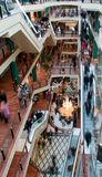 Crowd in the shopping mall Royalty Free Stock Images