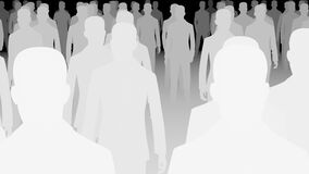 Crowd silhouette, 3d Animation