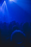 Crowd silhouette watching rock concert. Royalty Free Stock Photography