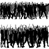 Crowd Silhouettes. Foregrounds and Backgrounds Illustration, Vector Stock Images