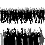 Crowd Silhouettes. Foregrounds and Backgrounds Illustration, Vector Royalty Free Stock Photo