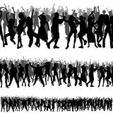 Crowd Silhouettes Royalty Free Stock Images
