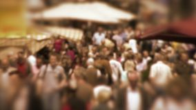 Crowd in slow motion Royalty Free Stock Photos