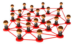 Crowd of small symbolic 3d figures Royalty Free Stock Image