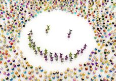 Cartoon Crowd, Jester Smile Royalty Free Stock Photography