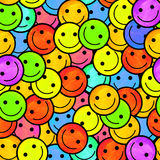 Crowd of Smiling emoticons. Smiles icon pattern.