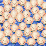 Crowd of smiling peoples Royalty Free Stock Photo