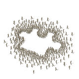 Crowd Source - Group Puzzle Stock Images