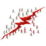Crowd Source - Group Separation vector illustration